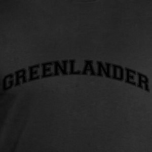 greenlander  college style curved logo - Men's Sweatshirt by Stanley & Stella