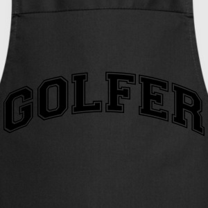 golfer college style curved logo - Cooking Apron