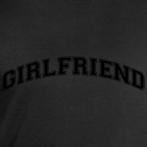 girlfriend college style curved logo - Men's Sweatshirt by Stanley & Stella
