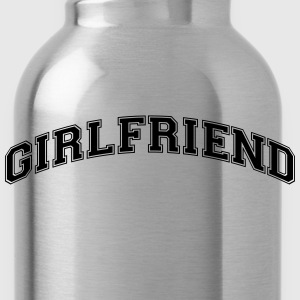 girlfriend college style curved logo - Water Bottle