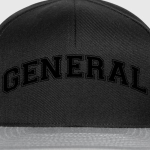 general college style curved logo - Snapback Cap