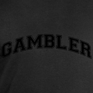 gambler college style curved logo - Men's Sweatshirt by Stanley & Stella