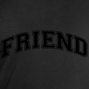 friend college style curved logo - Men's Sweatshirt by Stanley & Stella