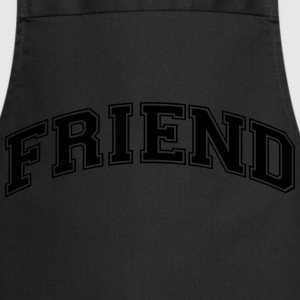 friend college style curved logo - Cooking Apron