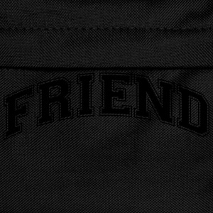 friend college style curved logo - Kids' Backpack