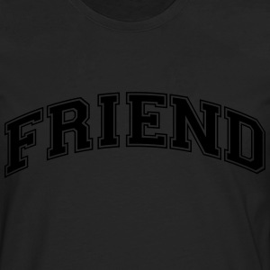 friend college style curved logo - Men's Premium Longsleeve Shirt