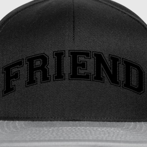 friend college style curved logo - Snapback Cap