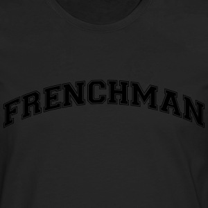 frenchman  college style curved logo - Männer Premium Langarmshirt