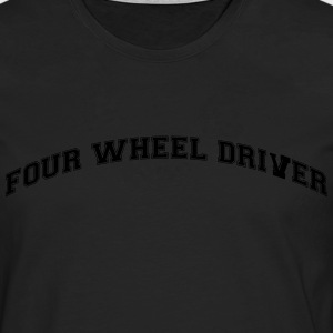 four wheel driver college style curved l - Men's Premium Longsleeve Shirt