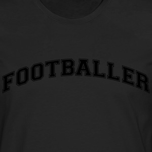 footballer college style curved logo - Men's Premium Longsleeve Shirt