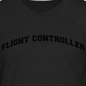 flight controller college style curved l - Men's Premium Longsleeve Shirt