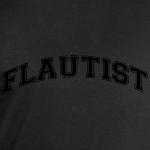 flautist college style curved logo - Men's Sweatshirt by Stanley & Stella