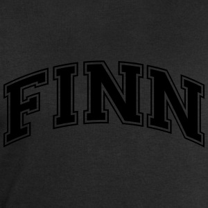 finn  college style curved logo - Men's Sweatshirt by Stanley & Stella