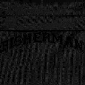 fisherman college style curved logo - Kids' Backpack
