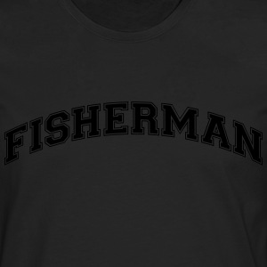 fisherman college style curved logo - Men's Premium Longsleeve Shirt