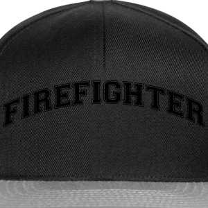 firefighter college style curved logo - Snapback Cap
