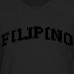 filipino  college style curved logo - Men's Premium Longsleeve Shirt