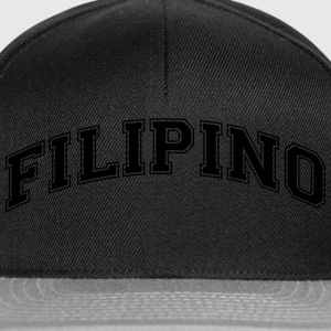 filipino  college style curved logo - Snapback Cap
