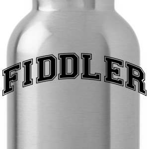 fiddler college style curved logo - Trinkflasche