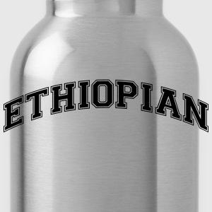 ethiopian college style curved logo - Water Bottle