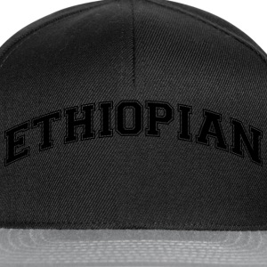 ethiopian college style curved logo - Snapback Cap