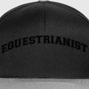 equestrianist college style curved logo - Snapback Cap