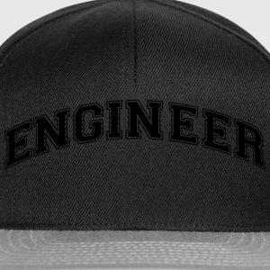 engineer college style curved logo - Snapback Cap