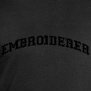 embroiderer college style curved logo - Men's Sweatshirt by Stanley & Stella