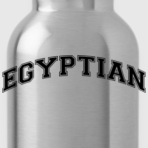 egyptian  college style curved logo - Water Bottle
