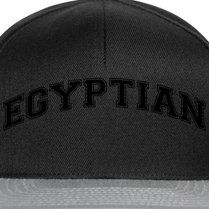 egyptian  college style curved logo - Snapback Cap