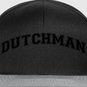 dutchman  college style curved logo - Snapback Cap