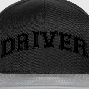 driver college style curved logo - Snapback Cap