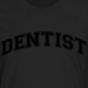 dentist college style curved logo - Men's Premium Longsleeve Shirt
