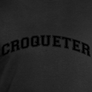 croqueter college style curved logo - Men's Sweatshirt by Stanley & Stella