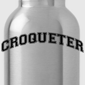 croqueter college style curved logo - Water Bottle