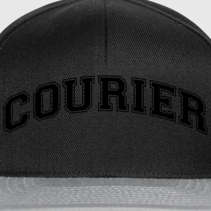 courier college style curved logo - Snapback Cap