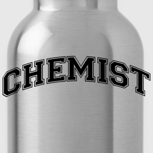 chemist college style curved logo - Water Bottle