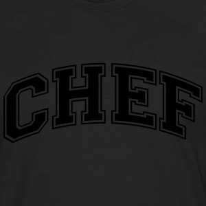 chef college style curved logo - Men's Premium Longsleeve Shirt