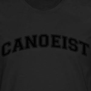 canoeist college style curved logo - Men's Premium Longsleeve Shirt
