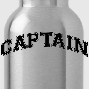 captain college style curved logo - Water Bottle