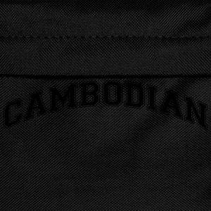 cambodian  college style curved logo - Kids' Backpack