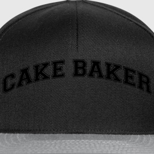 cake baker college style curved logo - Snapback Cap