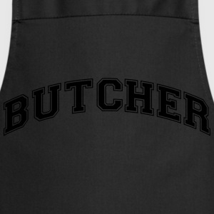 butcher college style curved logo - Cooking Apron