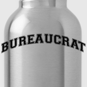 bureaucrat college style curved logo - Water Bottle