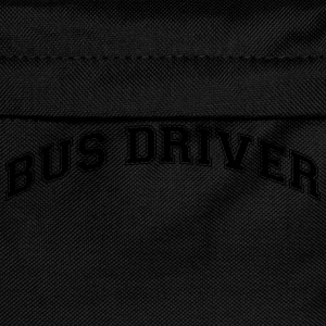 bus driver college style curved logo - Kids' Backpack