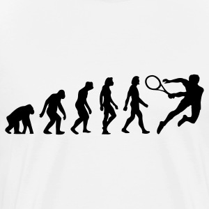 The Evolution of Tennis  Aprons - Men's Premium T-Shirt