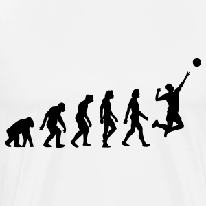 The Evolution of Volleyball Kookschorten - Mannen Premium T-shirt