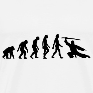 The Evolution of Martial Arts Overig - Mannen Premium T-shirt
