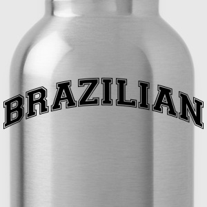 brazilian  college style curved logo - Water Bottle