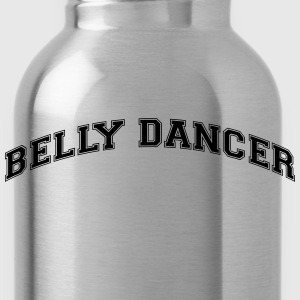 belly dancer college style curved logo - Water Bottle